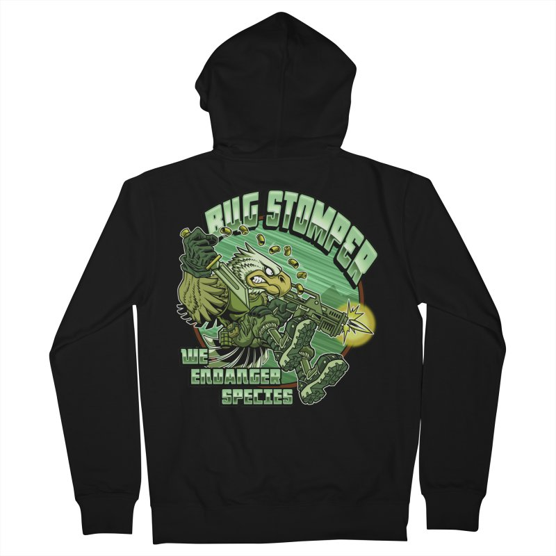 BUG STOMPER! Men's Zip-Up Hoody by Inkdwell's Artist Shop