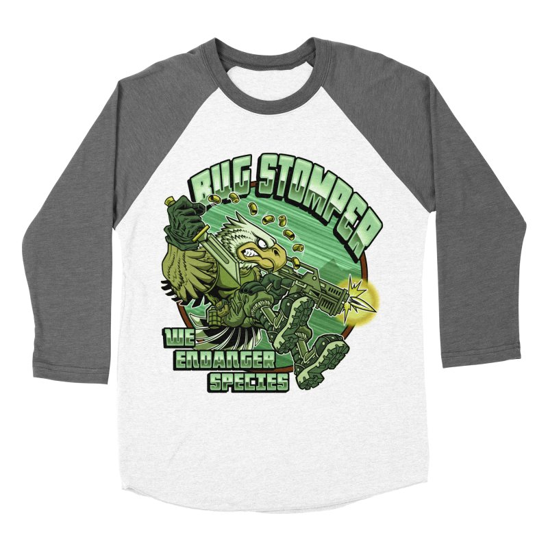 BUG STOMPER! Women's Baseball Triblend Longsleeve T-Shirt by Inkdwell's Artist Shop