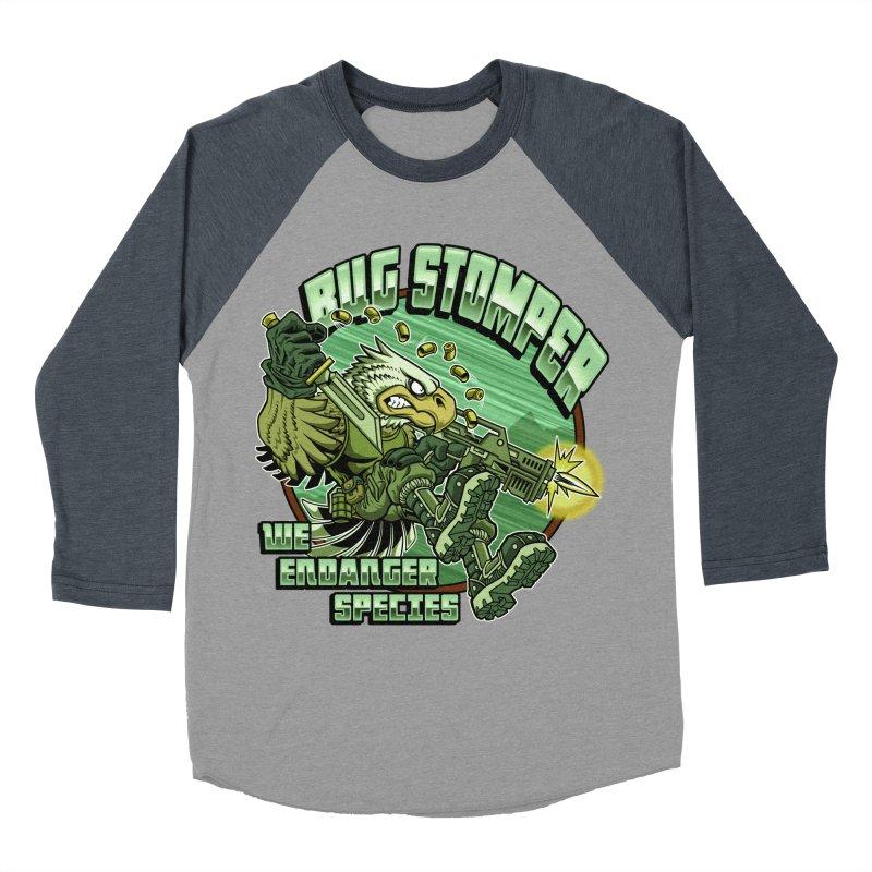 BUG STOMPER! Women's Baseball Triblend Longsleeve T-Shirt by Inkdwell's Artist Shop