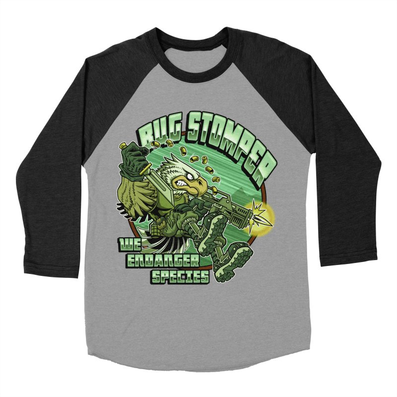 BUG STOMPER! Men's Baseball Triblend T-Shirt by Inkdwell's Artist Shop