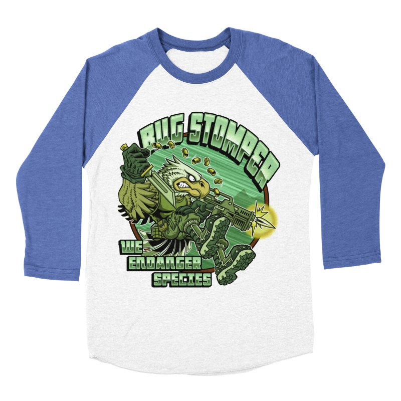 BUG STOMPER! Men's Baseball Triblend Longsleeve T-Shirt by Inkdwell's Artist Shop