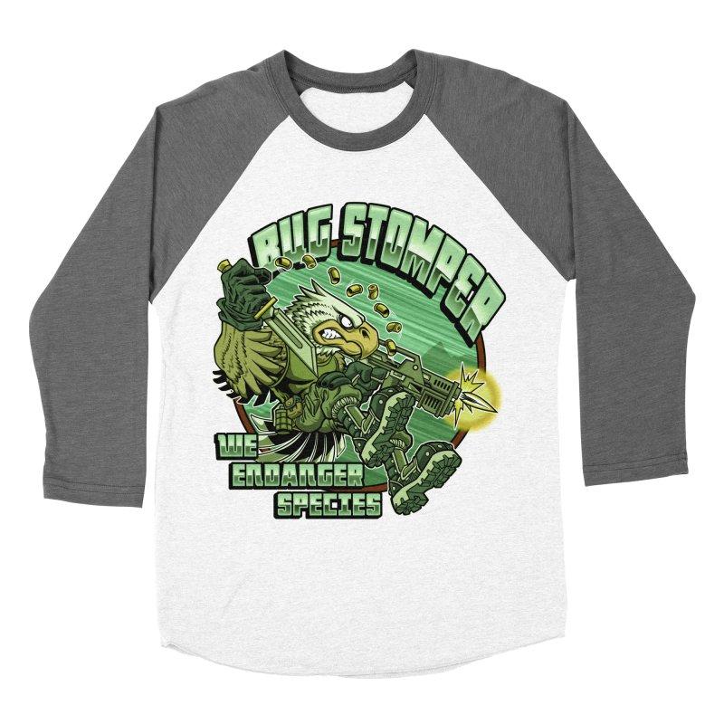 BUG STOMPER! Men's Baseball Triblend Longsleeve T-Shirt by Inkdwell's Artist Shop