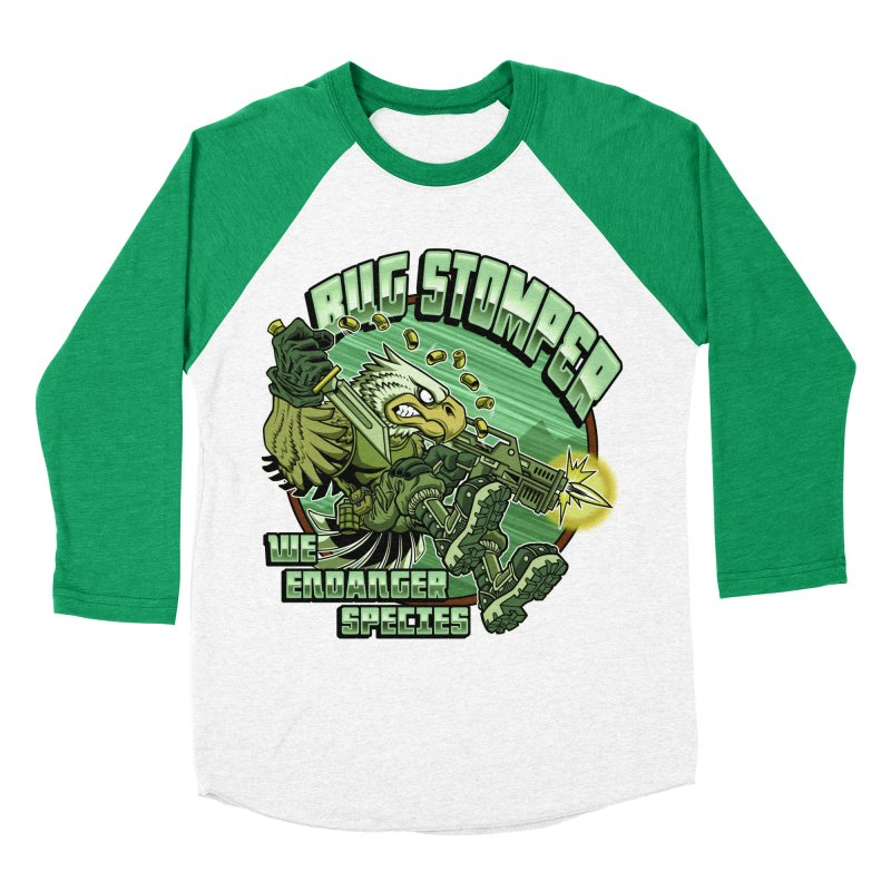 BUG STOMPER! Men's Baseball Triblend T-Shirt by Inkdwell's Artist Shop