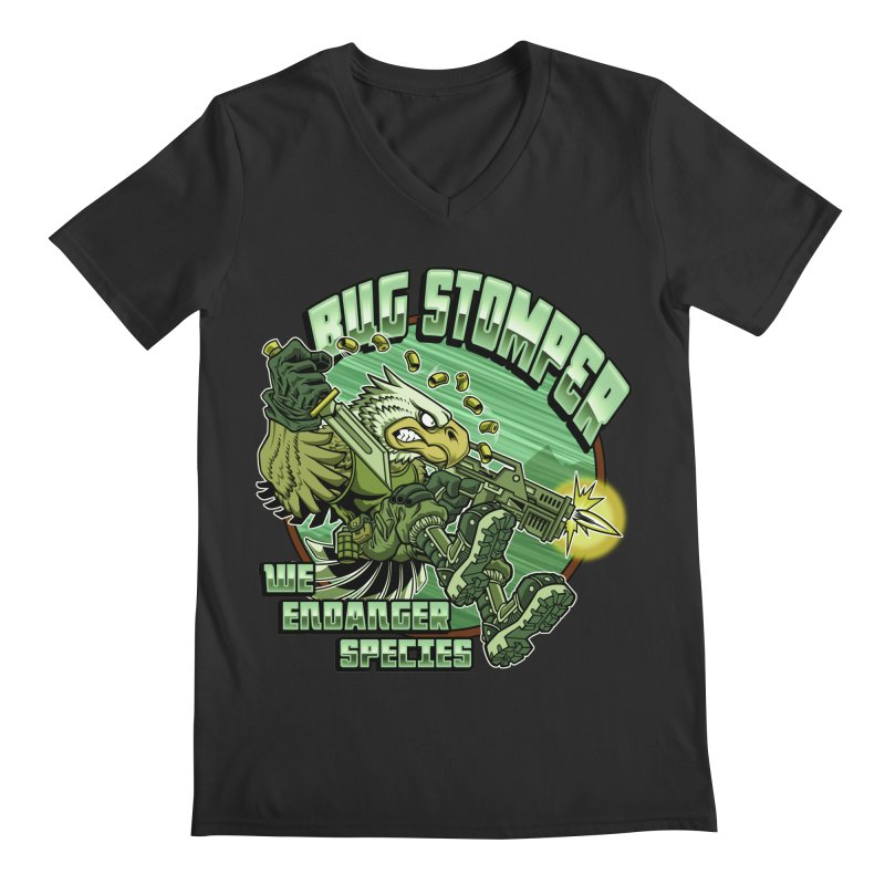 BUG STOMPER! Men's V-Neck by Inkdwell's Artist Shop