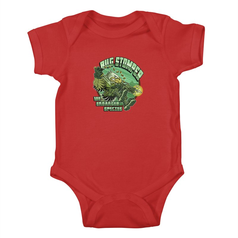 BUG STOMPER! Kids Baby Bodysuit by Inkdwell's Artist Shop