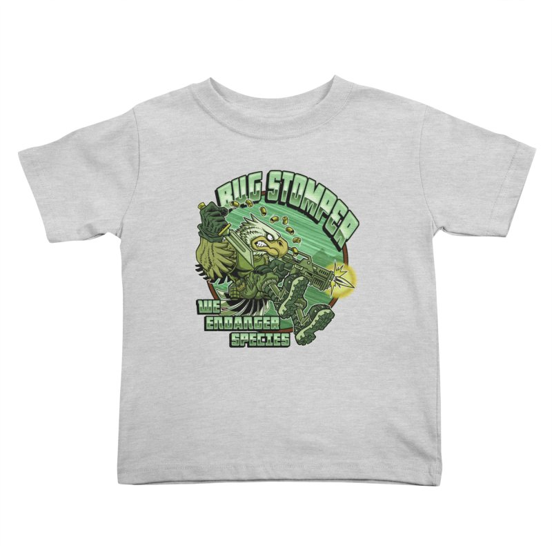 BUG STOMPER! Kids Toddler T-Shirt by Inkdwell's Artist Shop