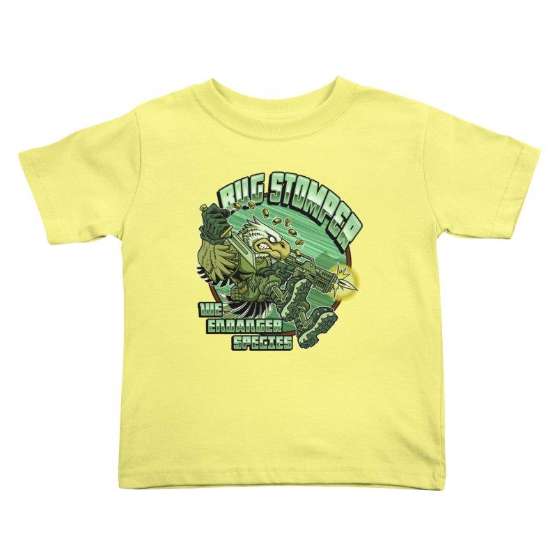 BUG STOMPER! Kids Toddler T-Shirt by Inkdwell's Artist Shop