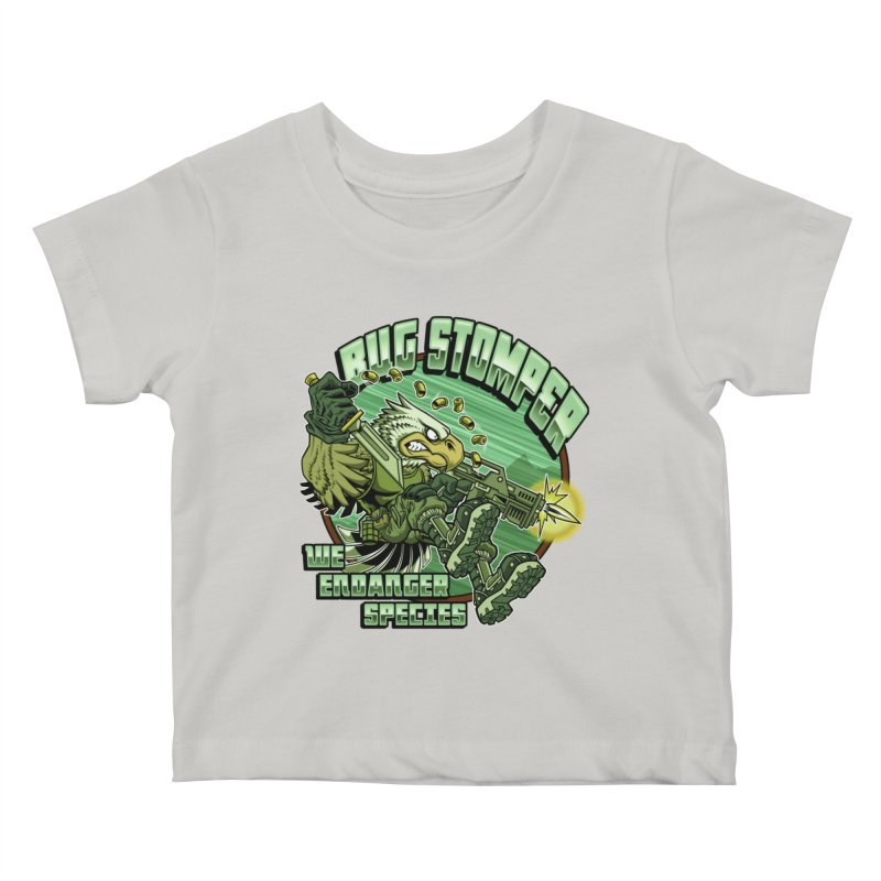 BUG STOMPER! Kids Baby T-Shirt by Inkdwell's Artist Shop