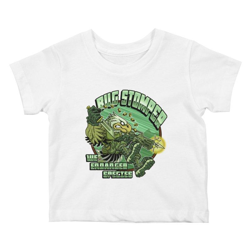 BUG STOMPER! Kids Baby T-Shirt by Inkdwell's Artist Shop