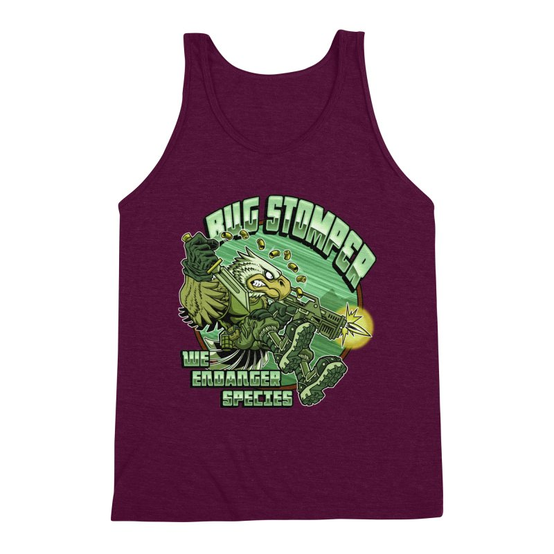 BUG STOMPER! Men's Triblend Tank by Inkdwell's Artist Shop