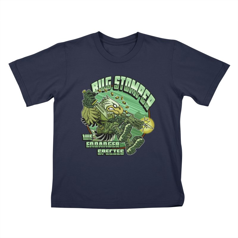 BUG STOMPER! Kids T-Shirt by Inkdwell's Artist Shop