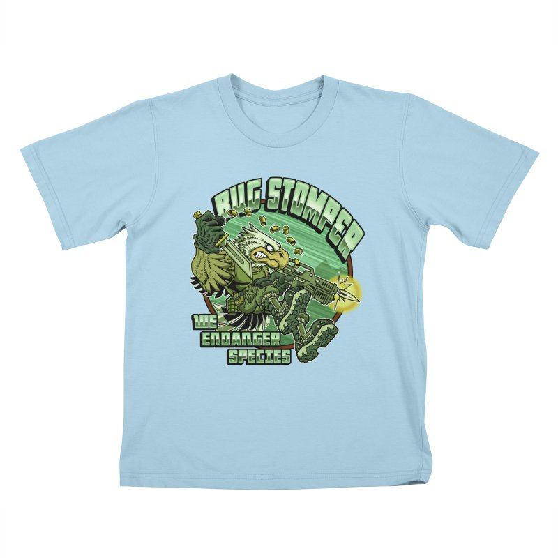 BUG STOMPER! Kids T-Shirt by Inkdwell's Artist Shop