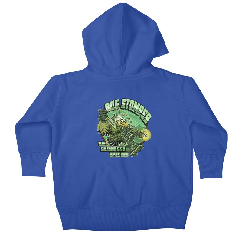 BUG STOMPER! Kids Baby Zip-Up Hoody by Inkdwell's Artist Shop