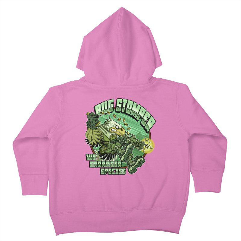 BUG STOMPER! Kids Toddler Zip-Up Hoody by Inkdwell's Artist Shop