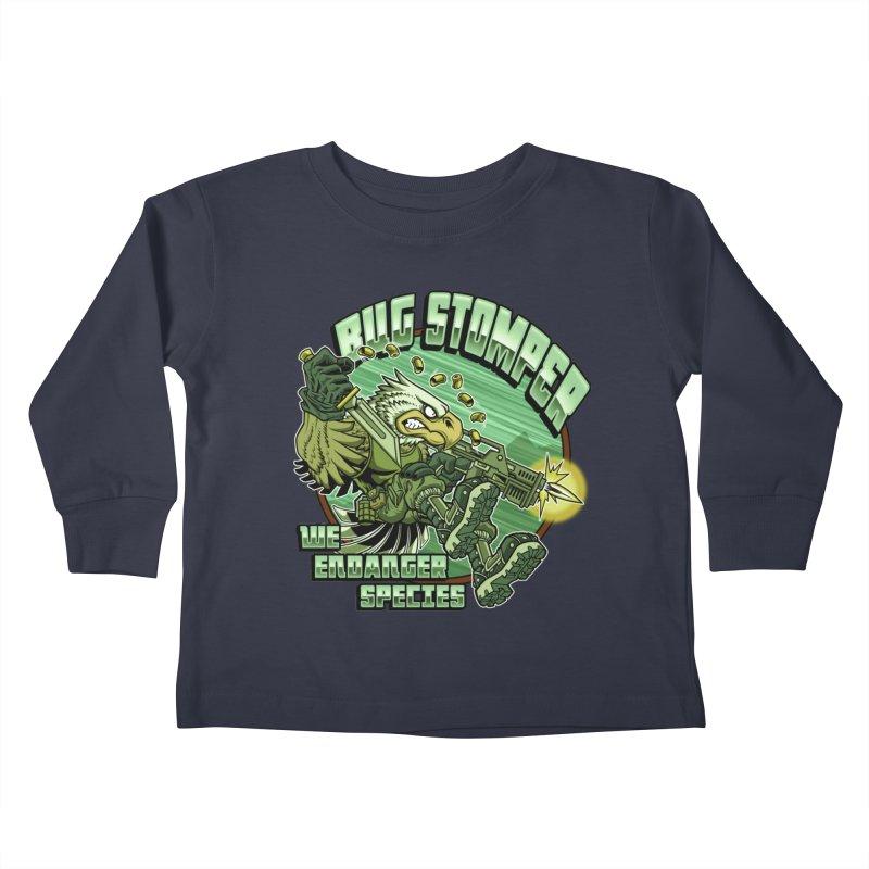 BUG STOMPER! Kids Toddler Longsleeve T-Shirt by Inkdwell's Artist Shop