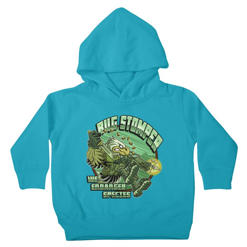 BUG STOMPER! Kids Toddler Pullover Hoody by Inkdwell's Artist Shop