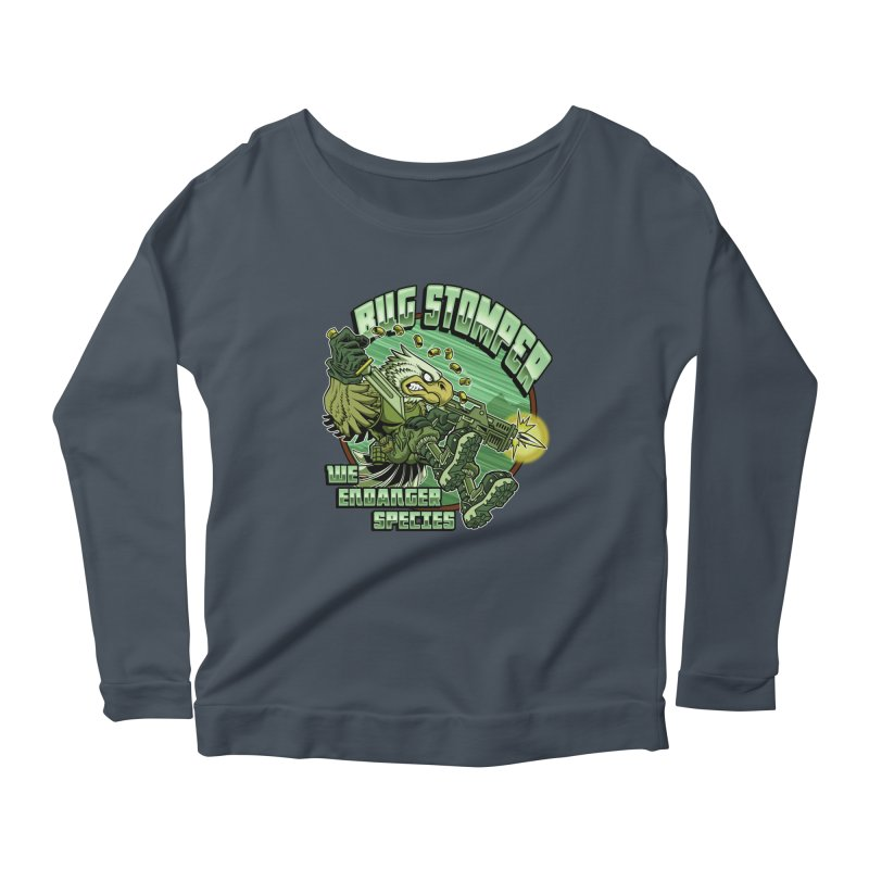 BUG STOMPER! Women's Scoop Neck Longsleeve T-Shirt by Inkdwell's Artist Shop