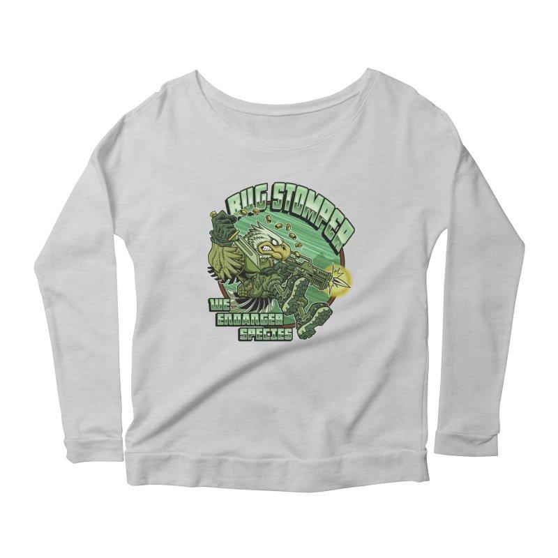 BUG STOMPER! Women's Scoop Neck Longsleeve T-Shirt by Inkdwell's Artist Shop