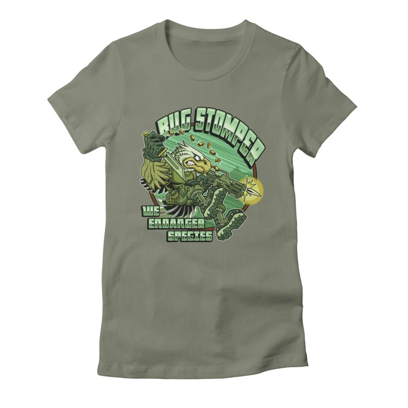 BUG STOMPER! Women's Fitted T-Shirt by Inkdwell's Artist Shop