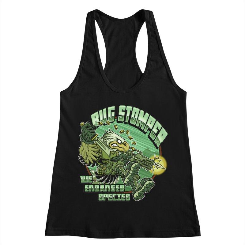 BUG STOMPER! Women's Racerback Tank by Inkdwell's Artist Shop