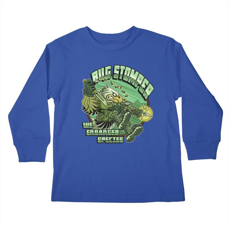 BUG STOMPER! Kids Longsleeve T-Shirt by Inkdwell's Artist Shop