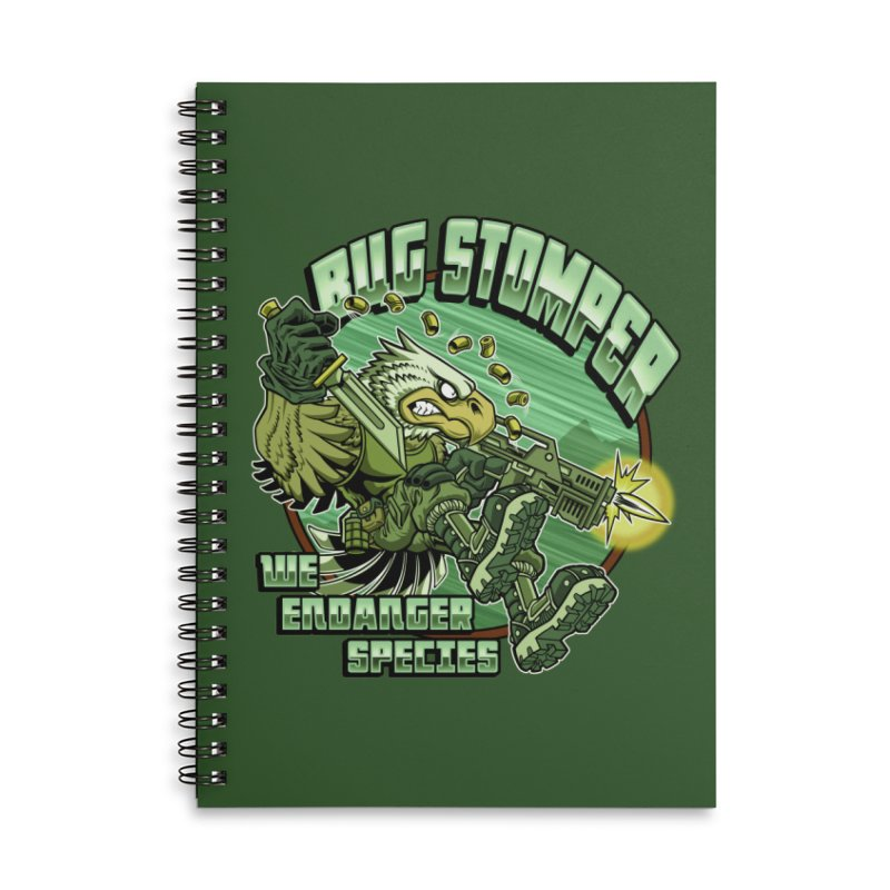 BUG STOMPER! Accessories Lined Spiral Notebook by Inkdwell's Artist Shop