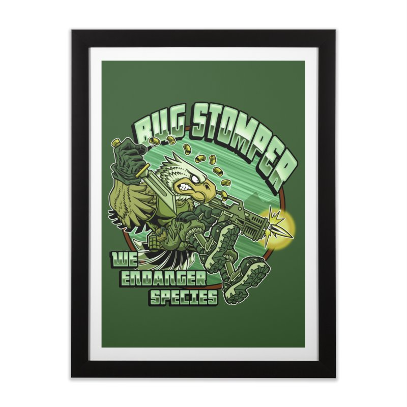 BUG STOMPER! Home Framed Fine Art Print by Inkdwell's Artist Shop
