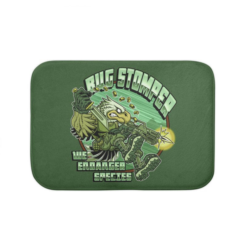 BUG STOMPER! Home Bath Mat by Inkdwell's Artist Shop
