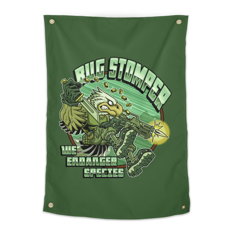 BUG STOMPER! Home Tapestry by Inkdwell's Artist Shop