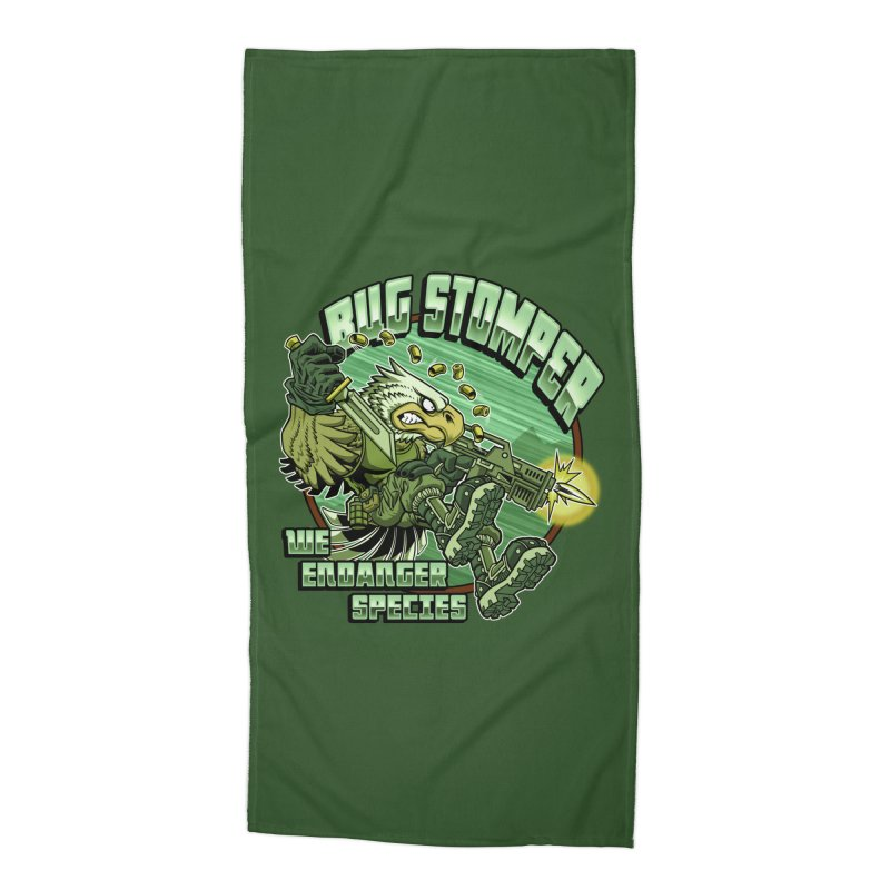 BUG STOMPER! Accessories Beach Towel by Inkdwell's Artist Shop