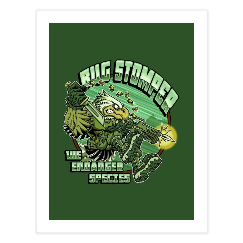 BUG STOMPER! Home Fine Art Print by Inkdwell's Artist Shop