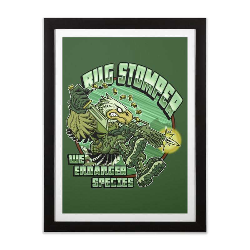 BUG STOMPER! Home Framed Fine Art Print by Inkdwell's Artist Shop