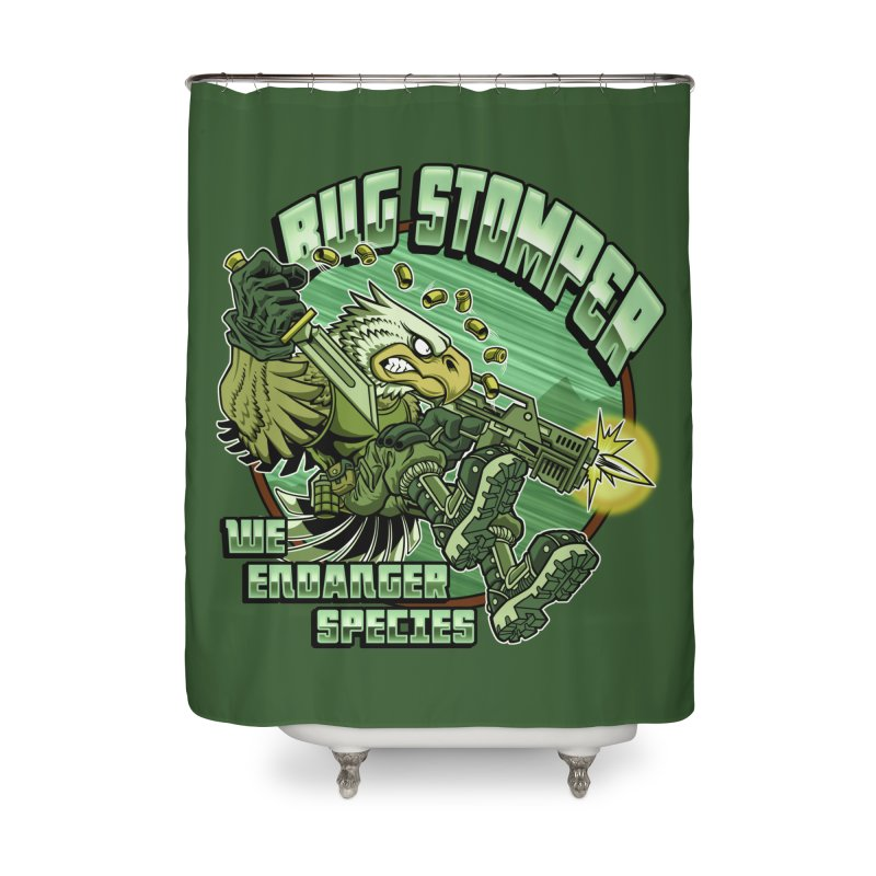 BUG STOMPER! Home Shower Curtain by Inkdwell's Artist Shop