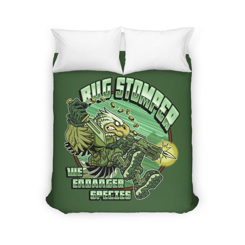 BUG STOMPER! Home Duvet by Inkdwell's Artist Shop