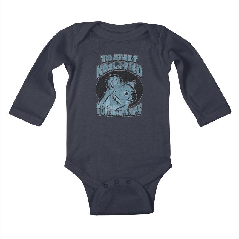 KOALAFIED Kids Baby Longsleeve Bodysuit by Inkdwell's Artist Shop