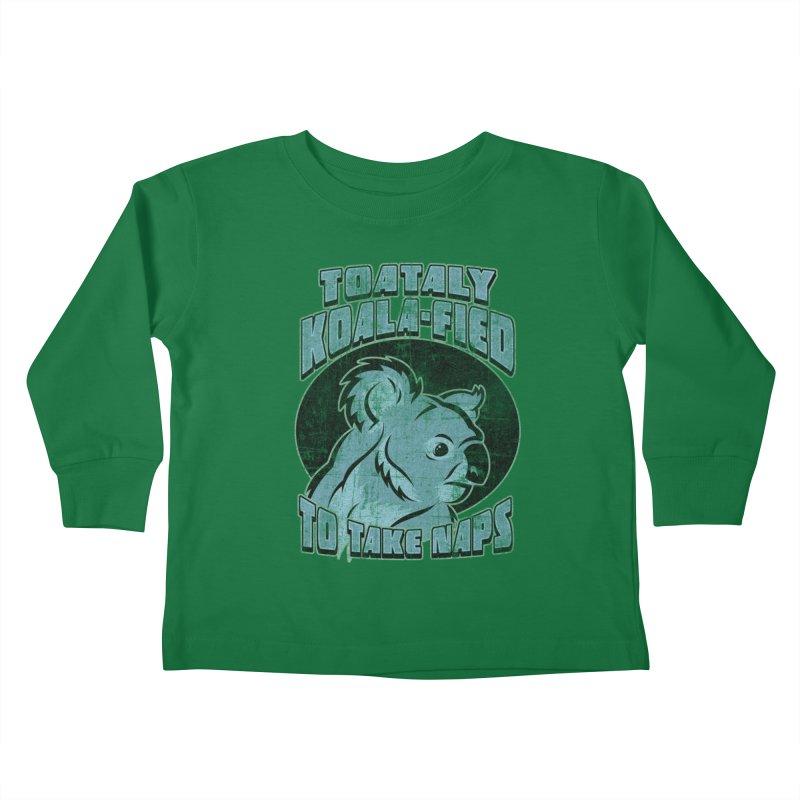 KOALAFIED Kids Toddler Longsleeve T-Shirt by Inkdwell's Artist Shop