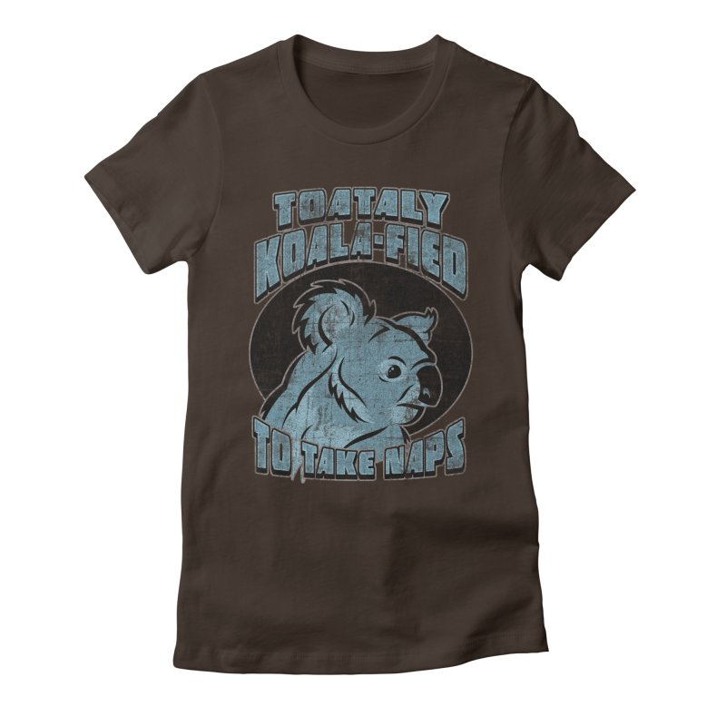 KOALAFIED Women's Fitted T-Shirt by Inkdwell's Artist Shop