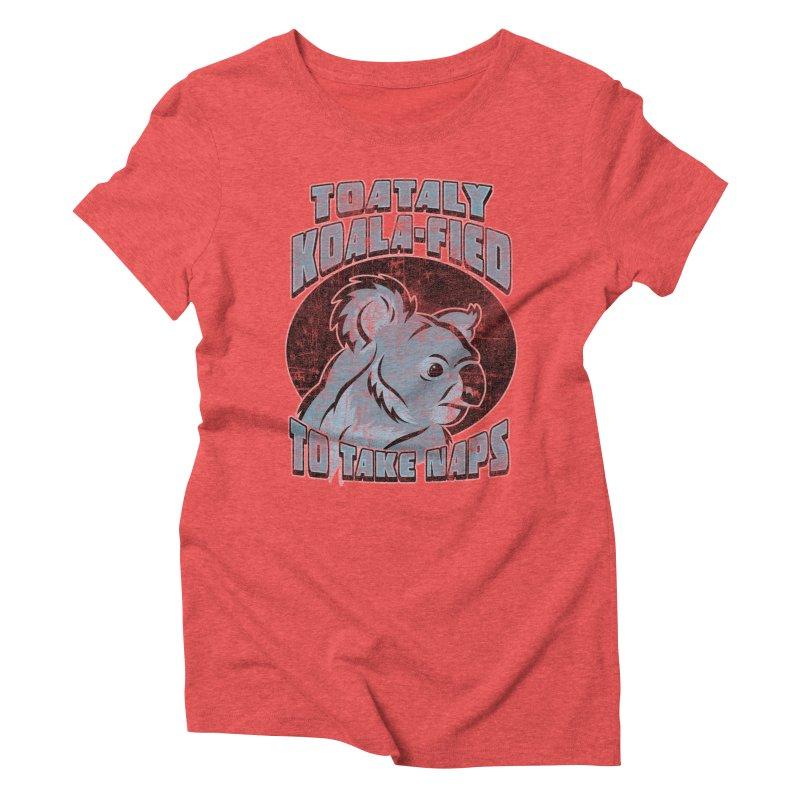 KOALAFIED Women's Triblend T-Shirt by Inkdwell's Artist Shop