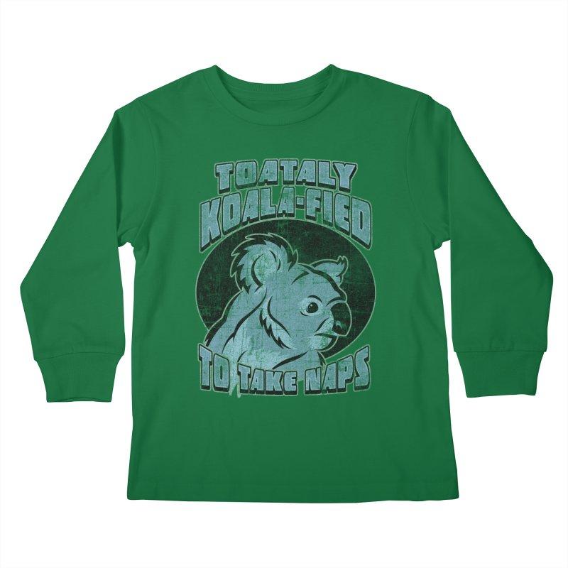 KOALAFIED Kids Longsleeve T-Shirt by Inkdwell's Artist Shop