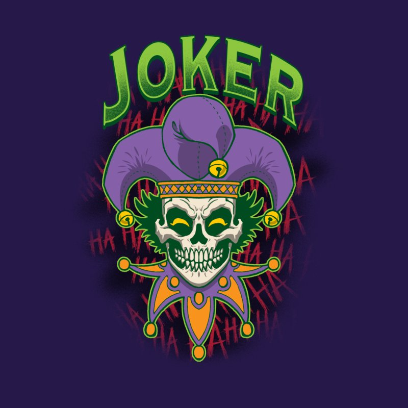 JOKER Women's V-Neck by Inkdwell's Artist Shop