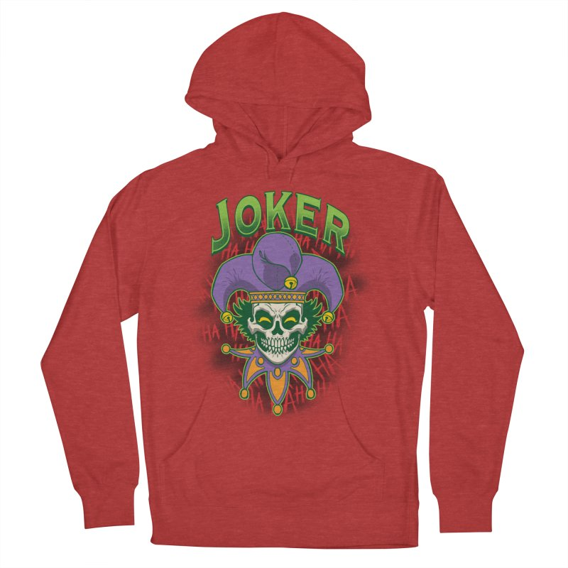 JOKER Women's French Terry Pullover Hoody by Inkdwell's Artist Shop