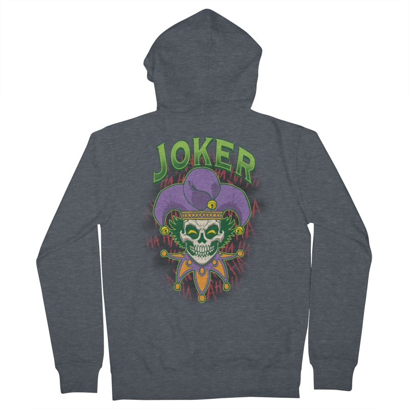 JOKER Women's French Terry Zip-Up Hoody by Inkdwell's Artist Shop