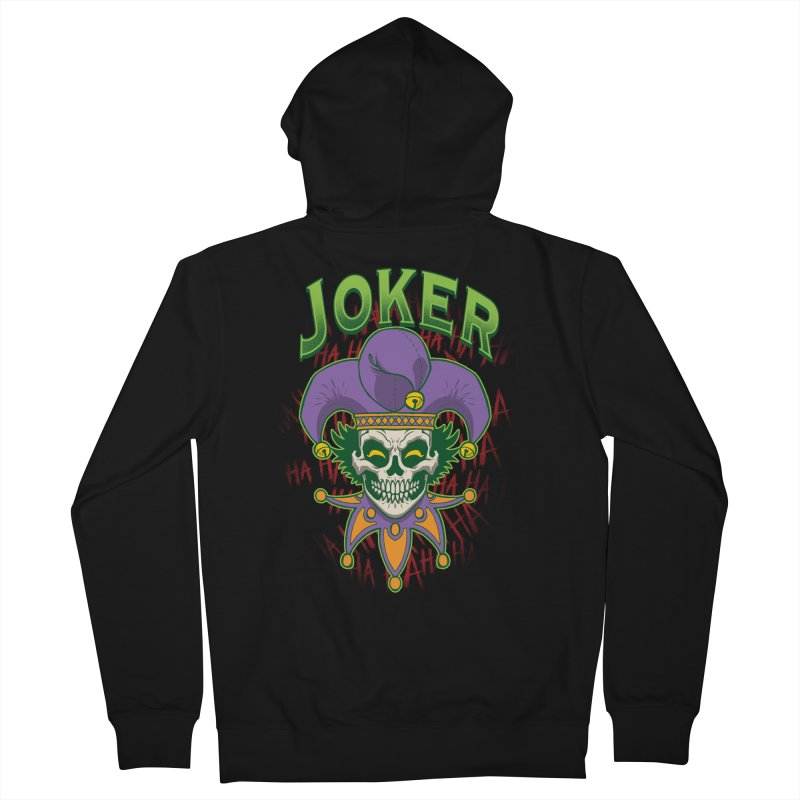 JOKER Men's French Terry Zip-Up Hoody by Inkdwell's Artist Shop