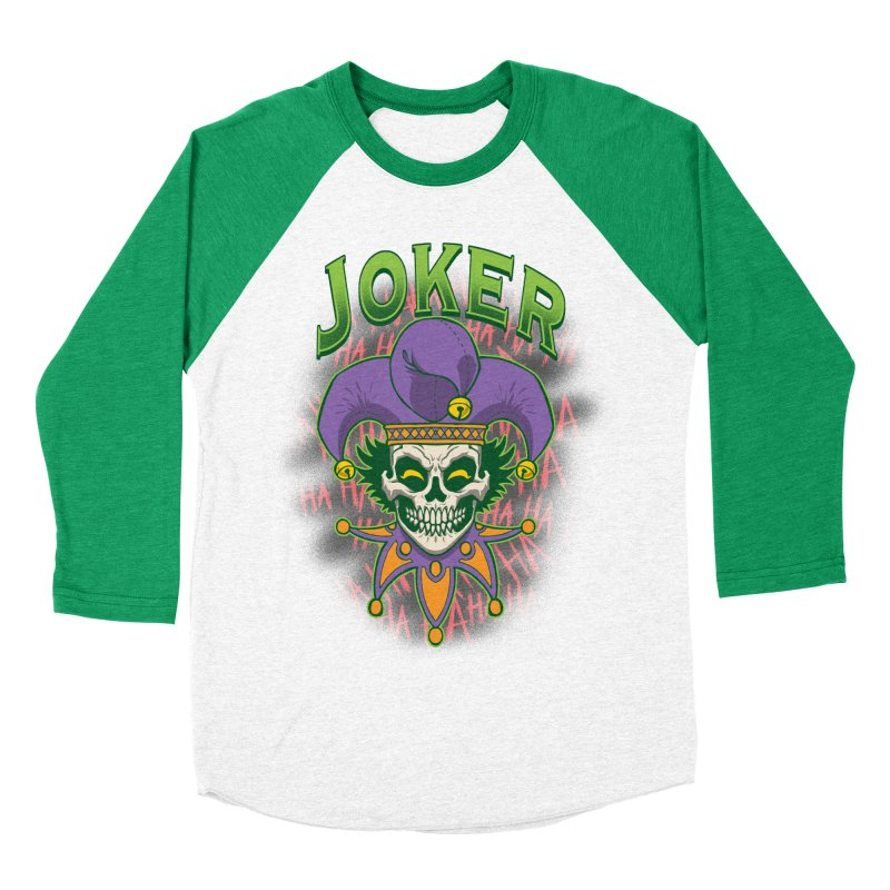 JOKER Women's Baseball Triblend Longsleeve T-Shirt by Inkdwell's Artist Shop