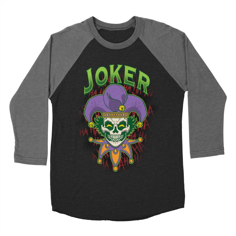 JOKER Men's Baseball Triblend Longsleeve T-Shirt by Inkdwell's Artist Shop