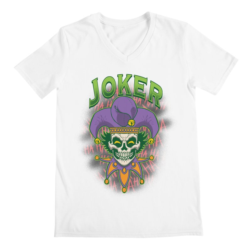 JOKER Men's V-Neck by Inkdwell's Artist Shop