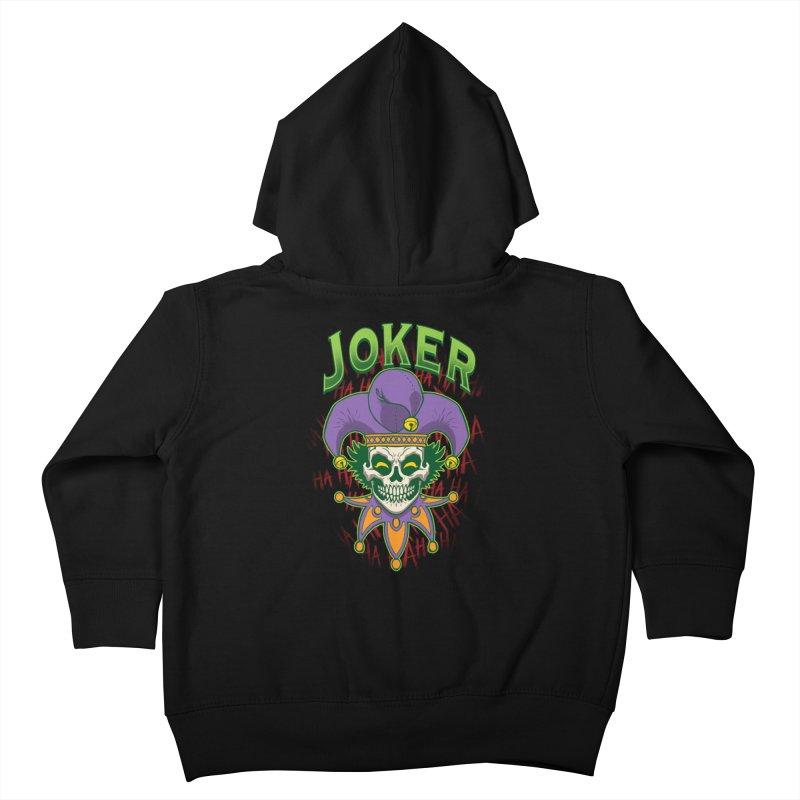 JOKER Kids Toddler Zip-Up Hoody by Inkdwell's Artist Shop