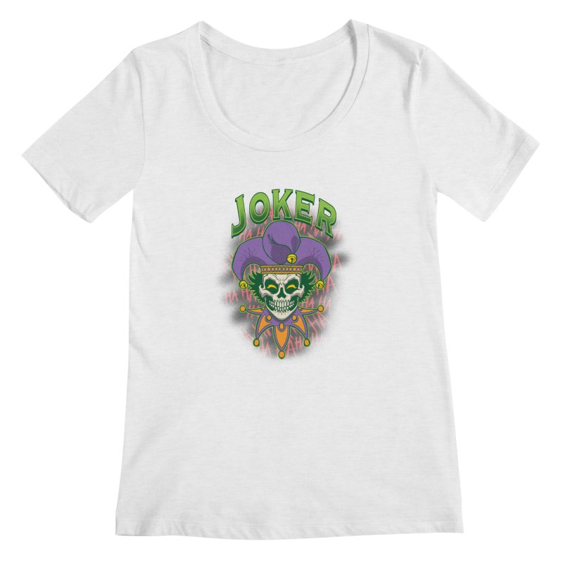 JOKER Women's Regular Scoop Neck by Inkdwell's Artist Shop