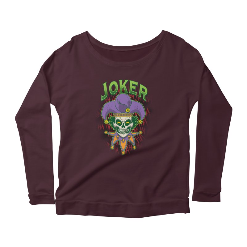 JOKER Women's Scoop Neck Longsleeve T-Shirt by Inkdwell's Artist Shop