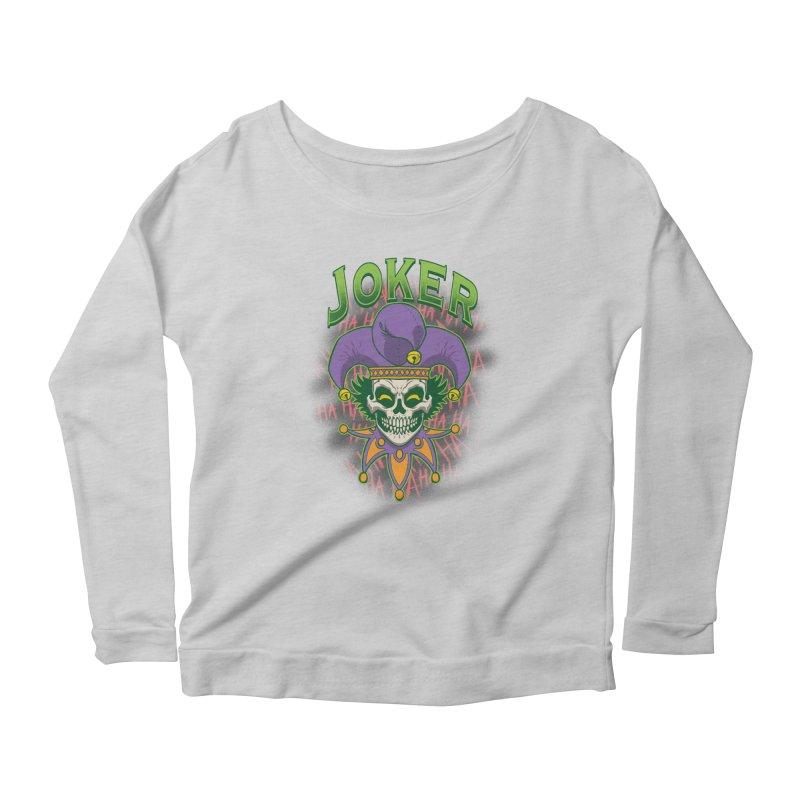 JOKER Women's Scoop Neck Longsleeve T-Shirt by Inkdwell's Artist Shop